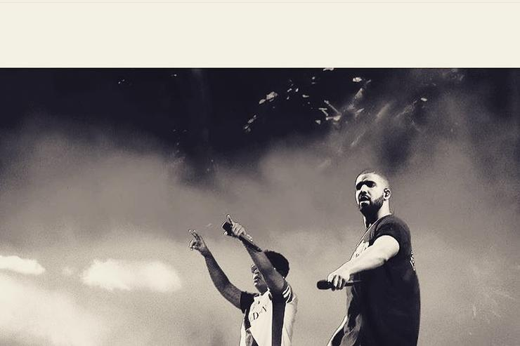 Drake & ILoveMakonnen perform together on stage