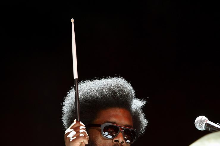 Drummer Ahmir Khalib 'Questlove' Thompson of The Roots performs during the Life is Beautiful festival on October 25, 2014 in Las Vegas, Nevada