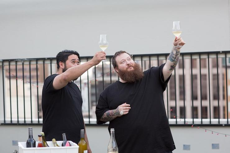 Action Bronson toasts to the moon.