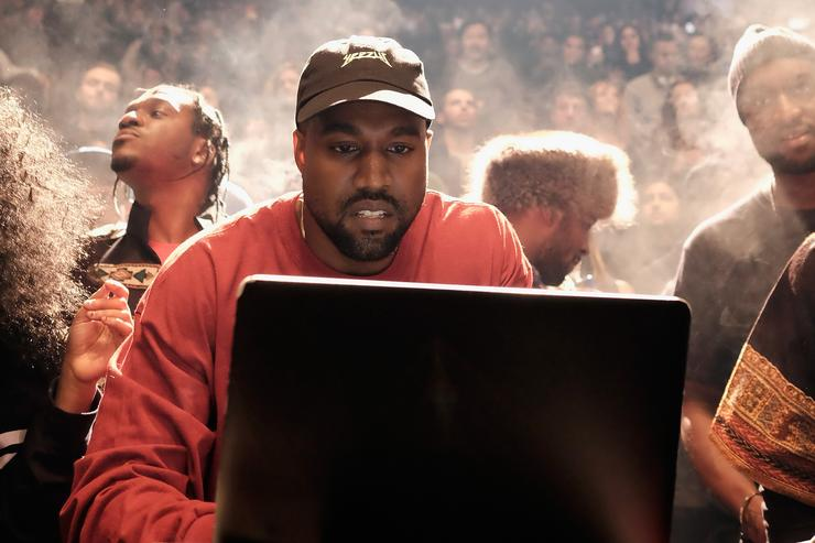 Kanye West at the Yeezy Season 3 debut at MSG