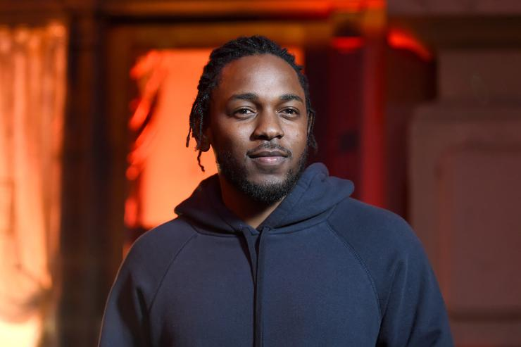 apper Kendrick Lamar speaks onstage during the 2016 MTV Movie Awards at Warner Bros. Studios on April 9, 2016 in Burbank, California. MTV Movie Awards airs April 10, 2016 at 8pm ET/PT. (Photo by Emma McIntyre/Getty Images for MTV)
