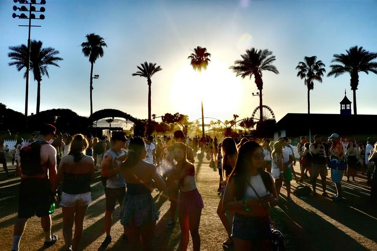 Music fans attend during day 2 of the 2015 Coachella Valley Music And Arts Festival (Weekend 2) at The Empire Polo Club on April 18, 2015 in Indio, California.