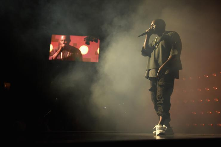 Musician Kanye West performs onstage at the 2015 iHeartRadio Music Festival at MGM Grand Garden Arena on September 18, 2015 in Las Vegas, Nevada.