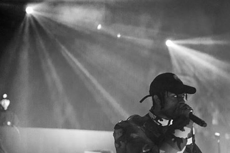 Travis Scott performs on stage
