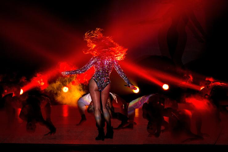 Beyonce performing on stage