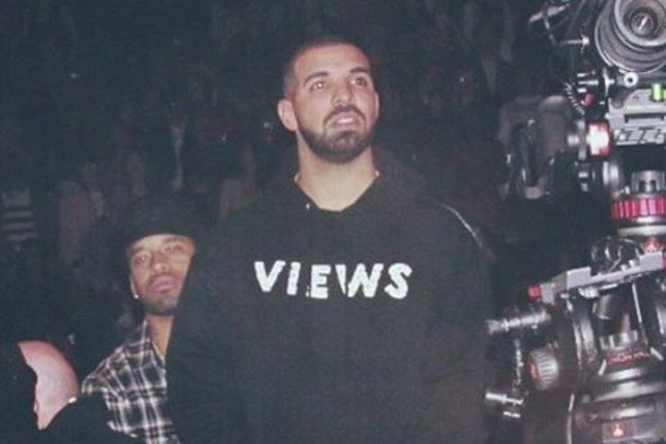 Drake with a VIEWS hoodie