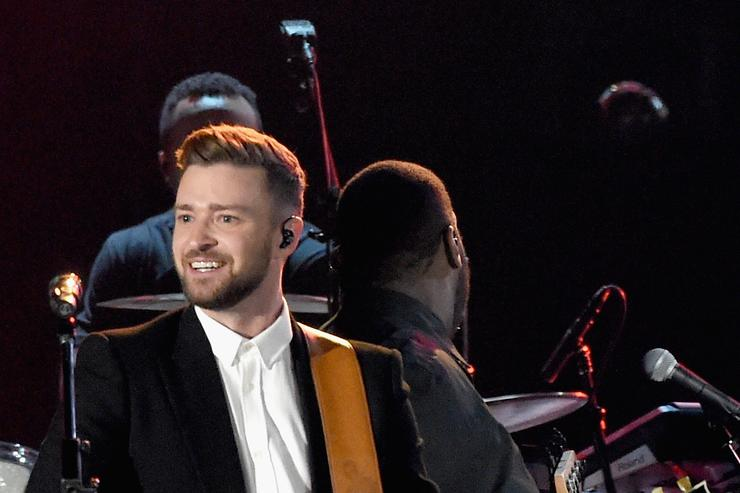 Justin Timberlake performing at the 49th Annual CMA Awards