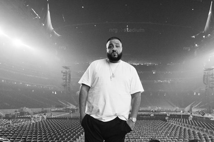"DJ Khaled before the ""Formation"" show in Houston."