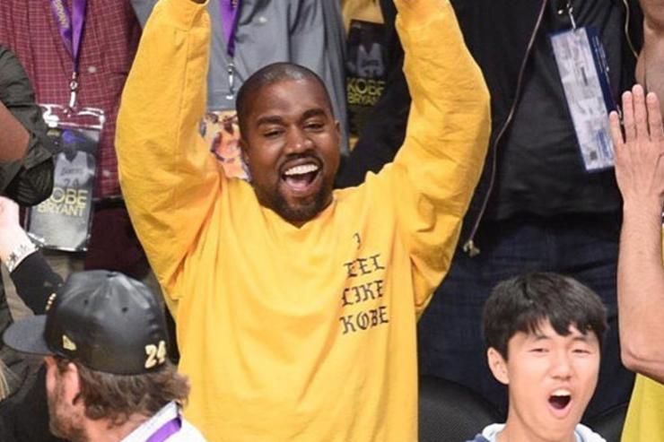 Kanye West rocking Kobe shirt