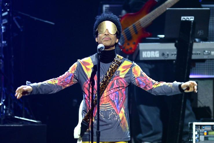 Prince performing in 2012