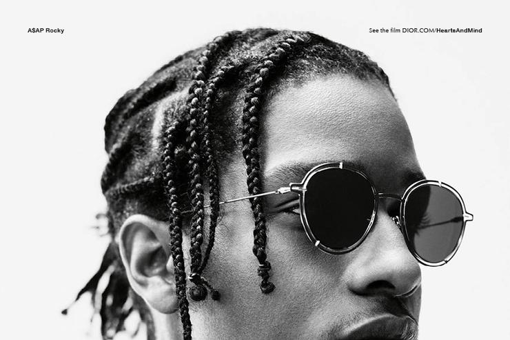ASAP Rocky in the new Dior Homme ad campaign