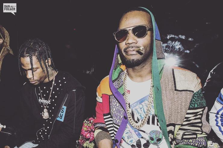 Travis Scott and Juicy J chilling