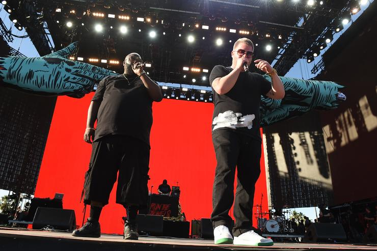 Killer Mike and El-P performing at Coachella
