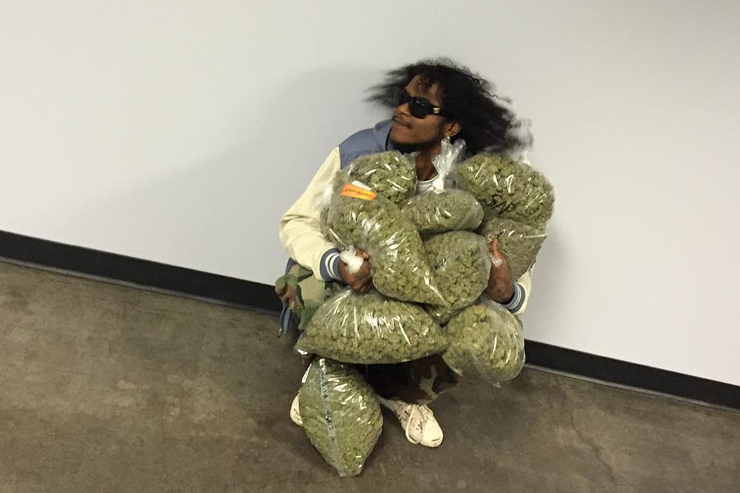 Ab-Soul with weed