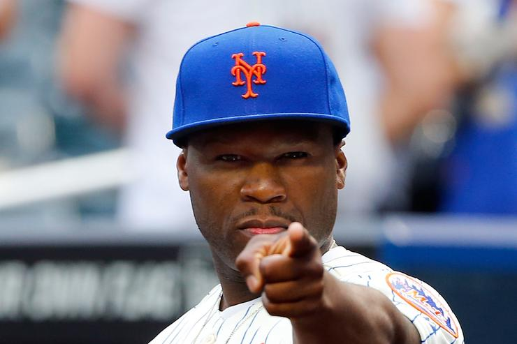 50 Cent at Mets game