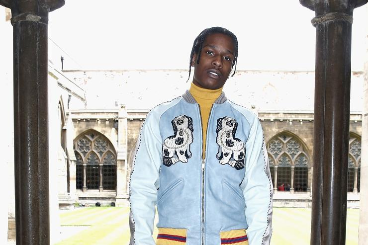ASAP Rocky at fashion show