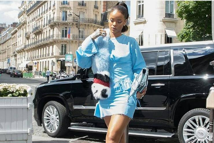 Rihanna out in Paris