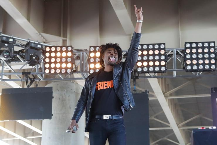 Danny Brown performing at Forecastle Festival at Waterfront Park