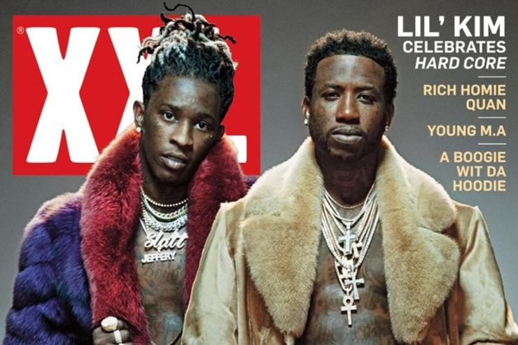 Gucci Mane and Young Thug on the cover of XXL