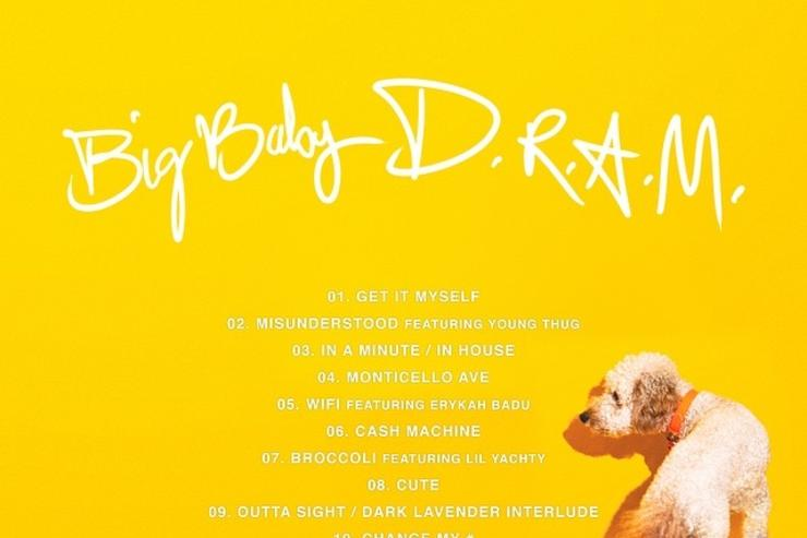 "tracklist & back cover art for D.R.A.M. ""Big Baby DRAM"""