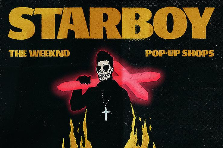 The Weeknd pop-up shop flyer
