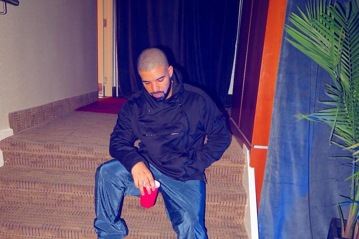 Drake with a red cup