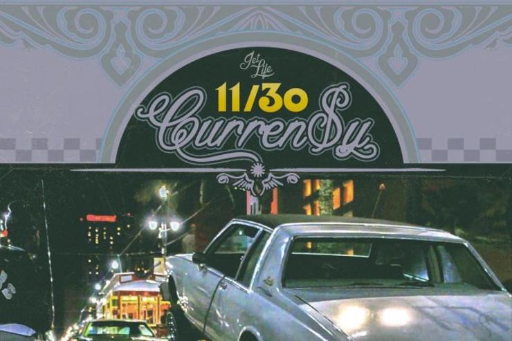 "album cover for Currensy's ""11/30"" tape"
