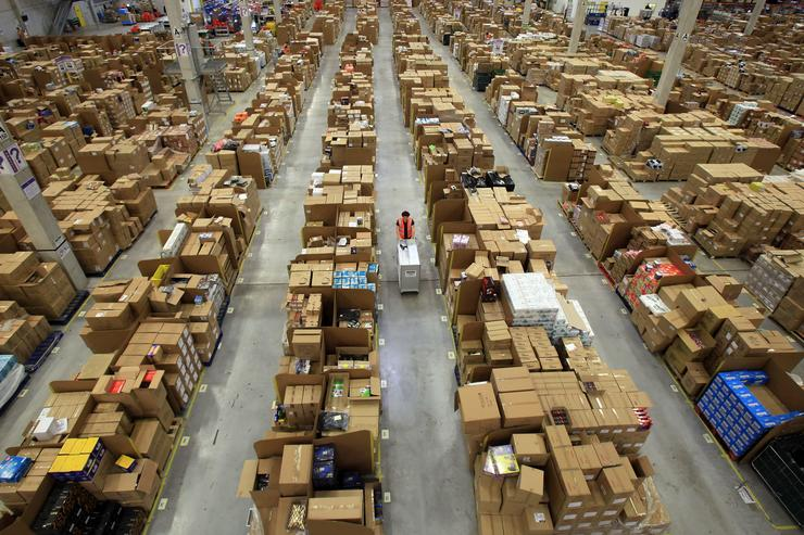 An Amazon warehouse.