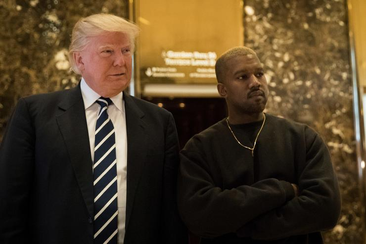 Kanye West and Trump meeting