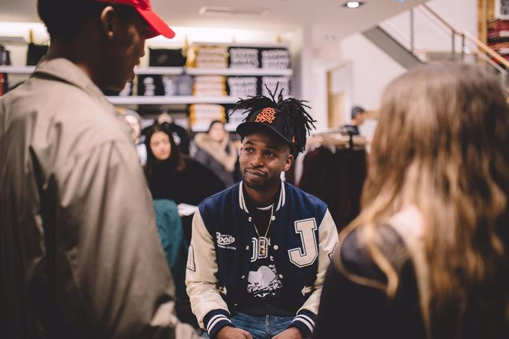 Jazz Cartier at an in-store event in Toronto