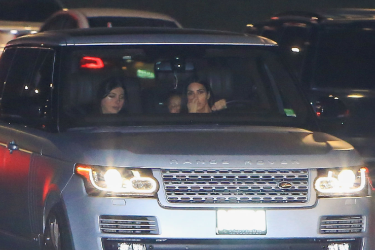 Kim spotted driving in LA