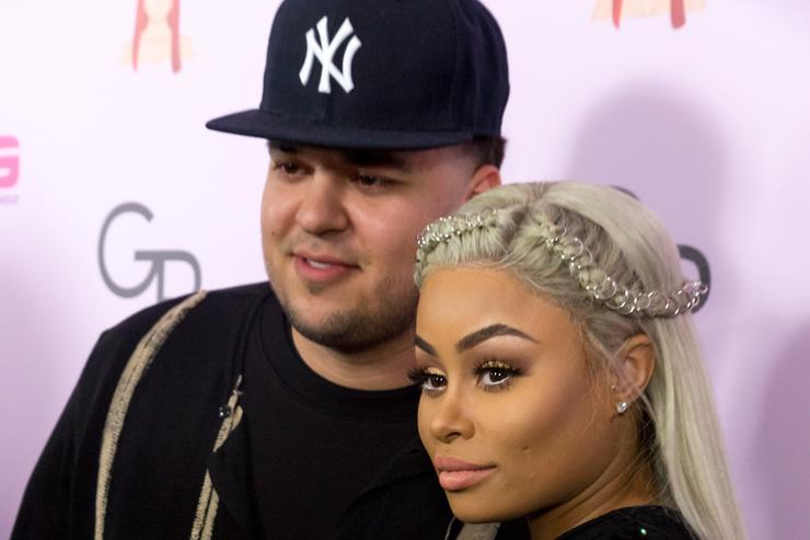 Rob Kardashian and Blac Chyna on the red carpet