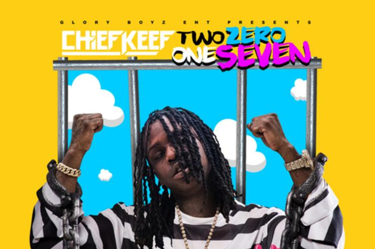 "Chief Keef album cover for ""Two Zero One Seven"""