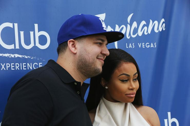 Blac Chyna and Rob Kardashian at At Sky Beach Club