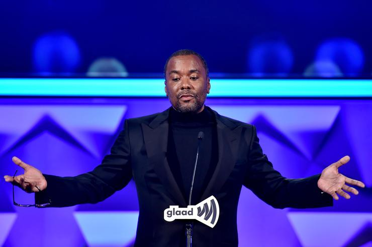 Lee Daniels speaks onstage during the 27th Annual GLAAD Media Awards at Waldorf Astoria Hotel in New York on May 14, 2016 in New York City.