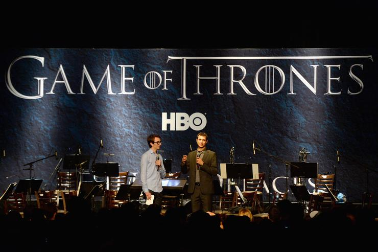 Actor Isaac Hempstead Wright and composer Ramin Djawadi attend the announcement of the Game of Thrones® Live Concert Experience featuring composer Ramin Djawadi at the Hollywood Palladium on August 8, 2016 in Los Angeles, California.