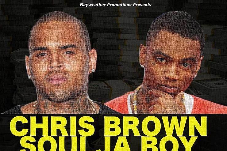 Chris Brown & Soulja Boy flyer
