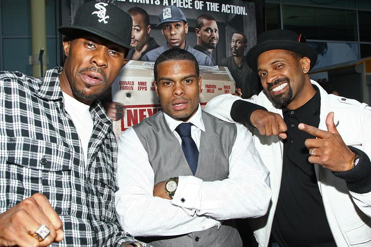Actor Wood Harris, director Benny Boom and actor Mike Epps arrive at the screening of Summit Entertainment's 'Next Day Air' held at the Arclight Theaters on April 29, 2009 in Hollywood, California.