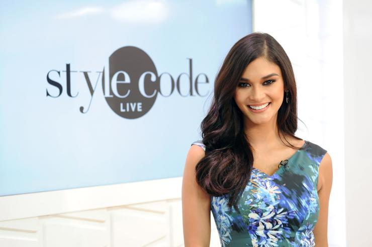 Miss Universe 2016 Pia Wurtzbach appears on Amazon's Style Code Live on January 9, 2017 in New York City.
