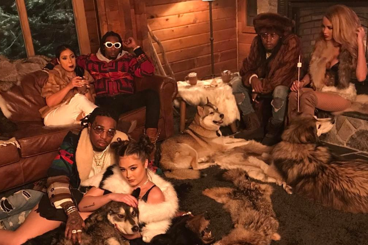 Migos on set of T-Shirt music video