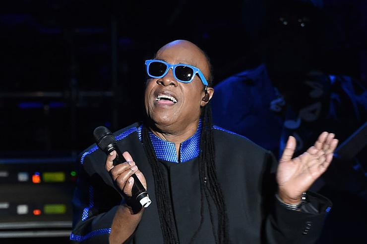 Musician Stevie Wonder performs onstage during the 'Hillary Clinton: She's With Us' concert at The Greek Theatre on June 6, 2016 in Los Angeles, California.