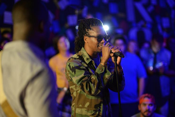 Lupe Fiasco performing