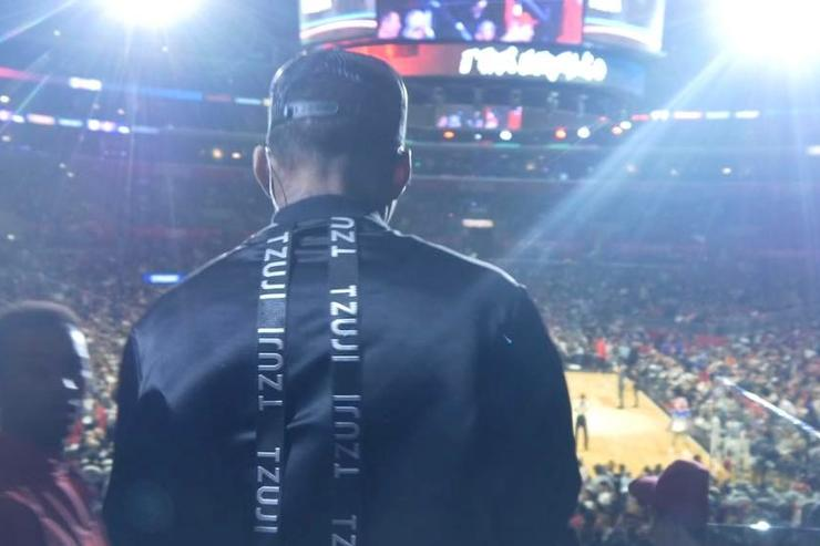 Kid Ink performs at Clippers Game