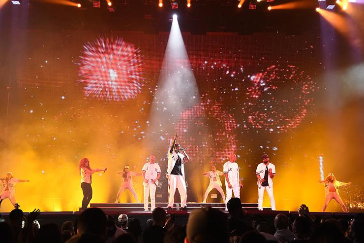 Puff Daddy and 112 perform during Puff Daddy and Bad Boy Family Reunion Tour at Madison Square Garden on September 4, 2016 in New York City.