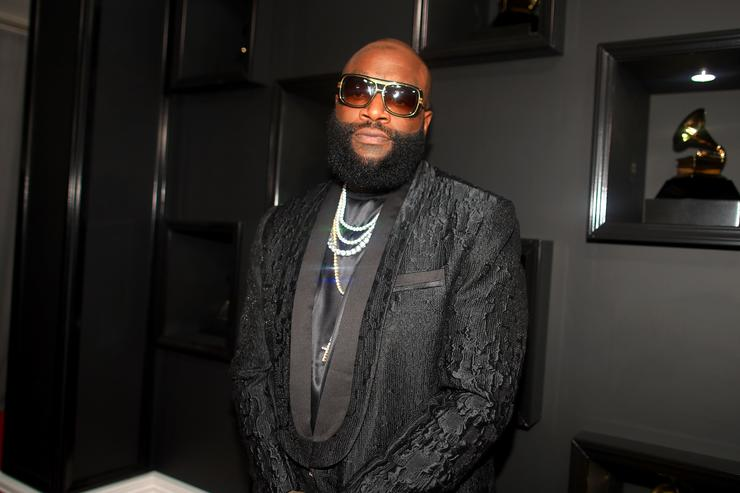 Rick Ross at a Grammys party