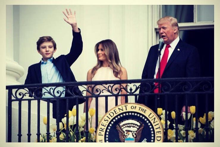Donald Trump, Melania Trump & son Barron