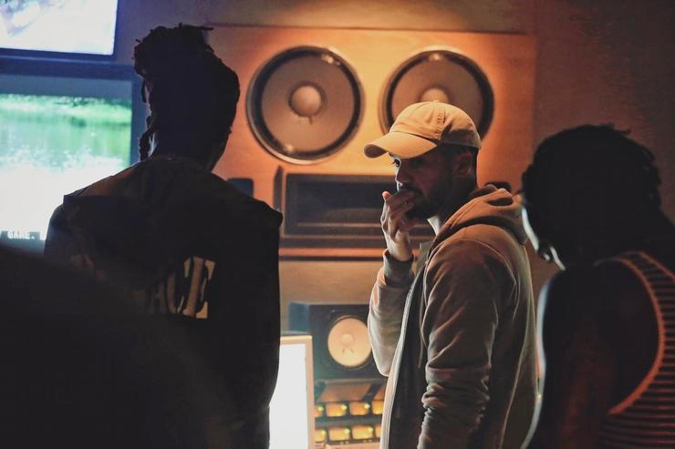 Thug and Tumay in studio