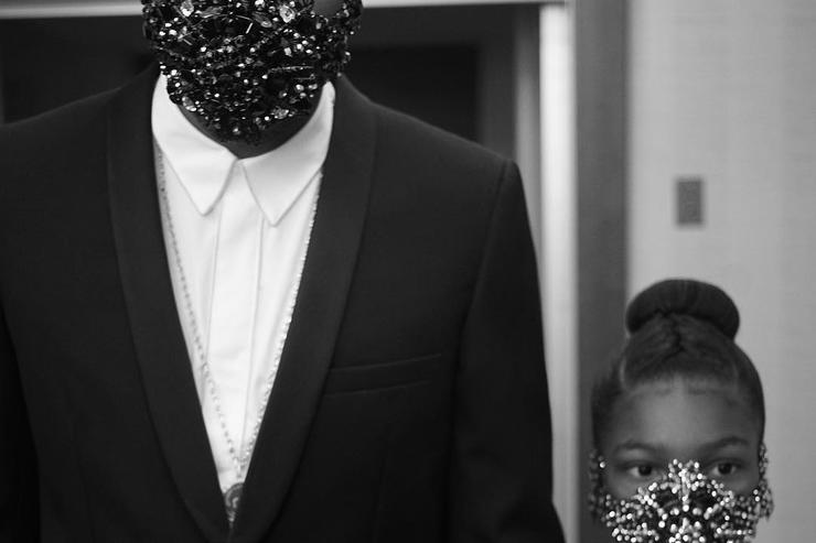 future and his daughter wear masks at the BET Awards 2017