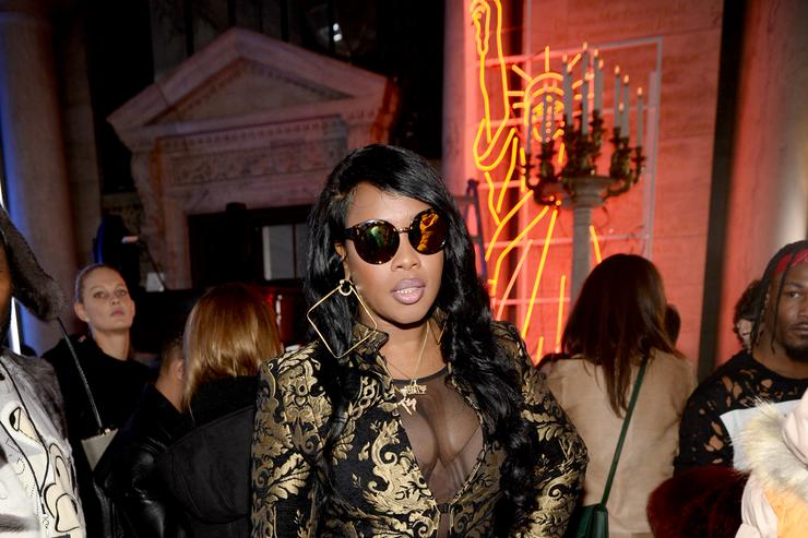 Remy Ma attends the Front Row for the Philipp Plein Fall/Winter 2017/2018 Women's And Men's Fashion Show