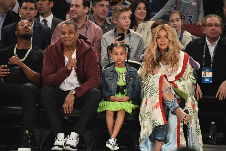 Jay-Z Celebrities Attend The 66th NBA All-Star Game